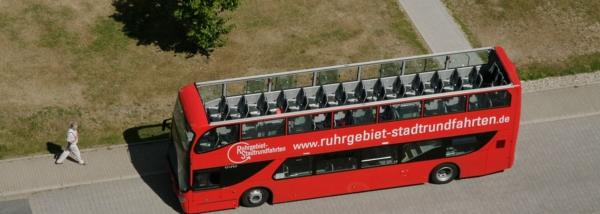 Cabrio Bus von Oben