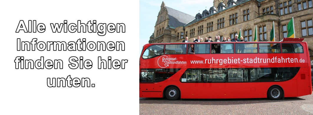 Wichtige Informationen zu den Stadtrundfahrten in Recklinghausen finden Sie unten auf der Seite.
